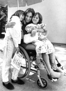 048 Judi Lisa Jessie wheelchair 7-22-90 Cross 7x9x300B